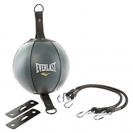 Pera Boxeo Everlast Doble Agarre Vinyl Negro