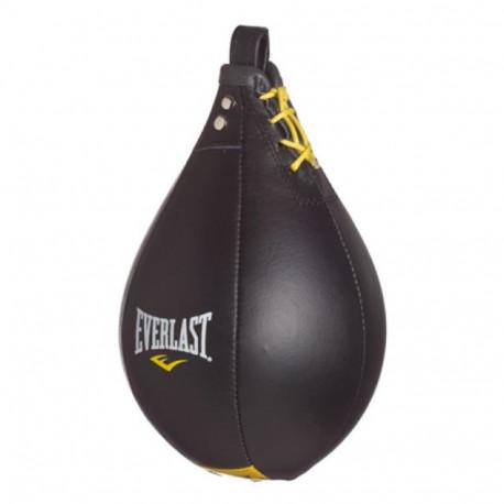 Pera Boxeo Everlast Profesional Piel Negro