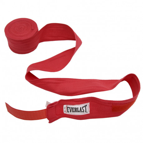 Venda Boxeo Everlast 100 Algodon 180in (4.57 m) Rojo