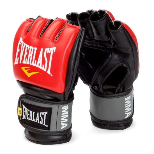 Guantes Boxeo Everlast De MMA Competencia Rojo