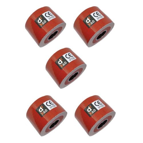 Cinta D3tape Multisport K6.0 kinesiology 5 pack 6m x 50 mm Rojo