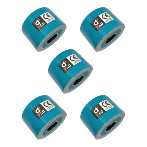 Cinta D3tape Multisport K6.0 kinesiology 5 pack 6m x 50 mm Azul
