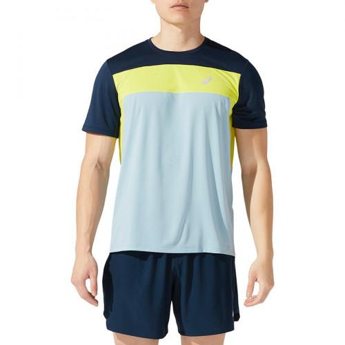 Playera Running Asics Race SS Azul Hombre