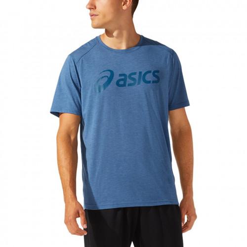 Playera Asics Fitness Triblend Training  Azul Hombre