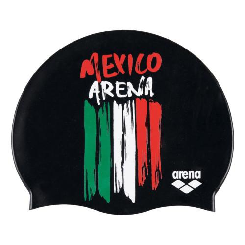 Gorro Natación Arena Flags Silicone Negro