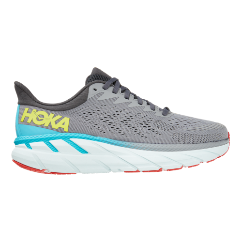 Tenis Running Hoka One One Clifton 7 Gris Hombre