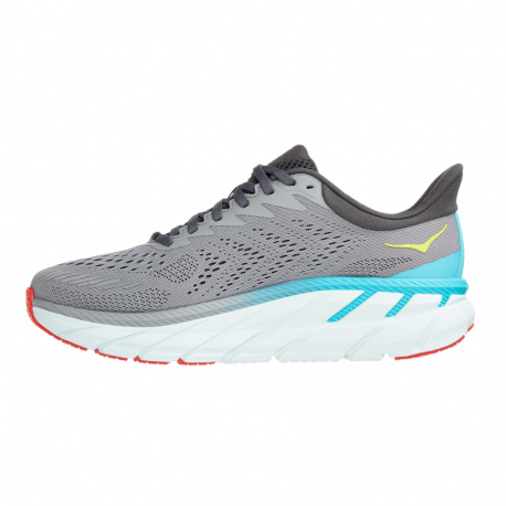 Tenis Hoka One One Running Clifton 7 Gris Hombre
