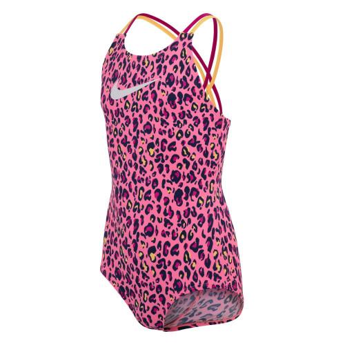 Traje de baño Playa Nike Swim Cheetah Rosa Kids