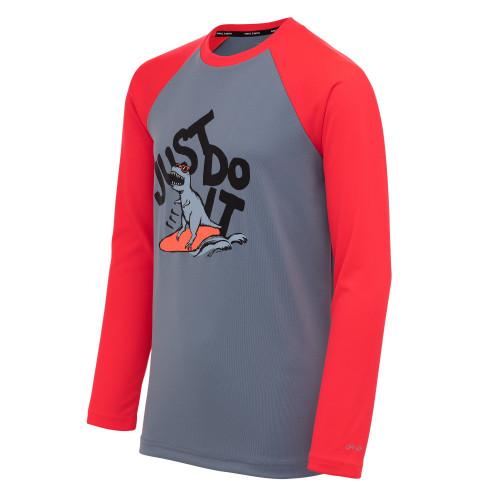 Rashguard Playa Nike Swim JDI Dinosaur Azul Kids