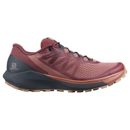 Tenis Salomon Trail Running Sense Ride 4 Rojo Mujer