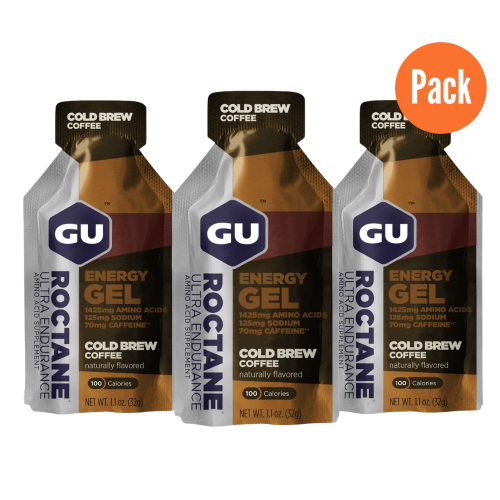 Gel Running GU Energy Roctane Endurance Cold Brew Pack 3 Cafe