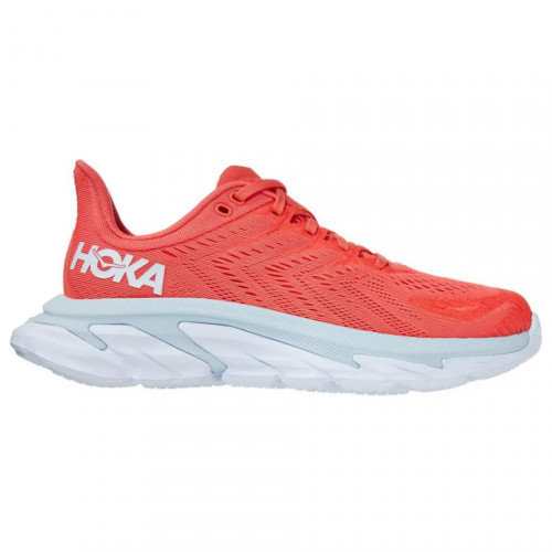Tenis Hoka One One Running Clifton edge Rojo Mujer