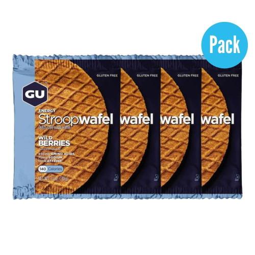Barra GU Energy Running Stroop Wafel Wild Berries Pack 4 Azul