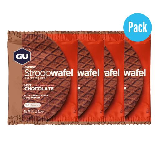 Barra GU Energy Running Stroop Wafel Hot Chocolate Pack 4 Cafe