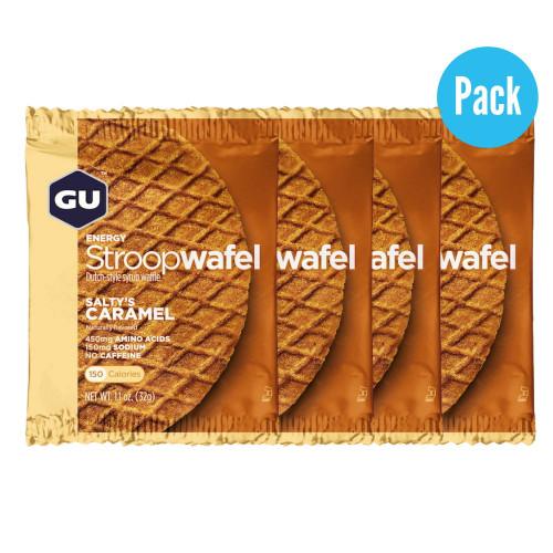 Barra GU Energy Running Stroop Wafel Salty´s Caramel Pack 4 Cafe