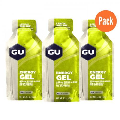 Gel GU Energy Running Lemon Sublime Pack 3 Verde