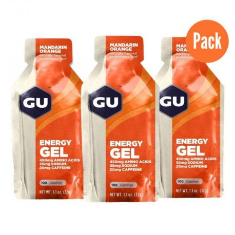 Gel GU Energy Running Mandarin-Orange Pack 3 Naranja