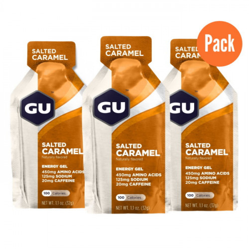 Gel GU Energy Running Salted Caramel Pack 3 Cafe