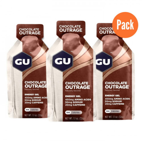 Gel GU Energy Running Chocolate Outrage Pack 3 Cafe