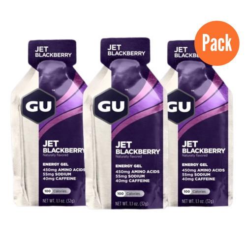 Gel GU Energy Running Jet Blackberry Pack 3 Morado