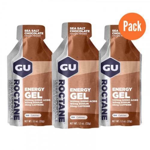 Gel GU Energy Running Roctane  Sea Salt Chocolate Pack 3 Cafe