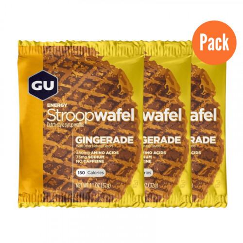 Barra Running GU Energy Stroop Wafel Jengibre Pack 3 Cafe