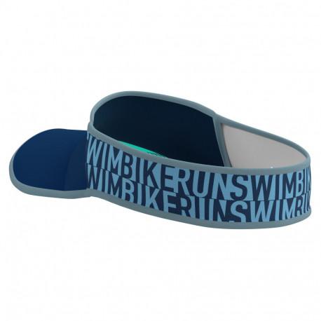 Visera Compressport Triatlón Ultralight SwimBikeRun LTD Azul