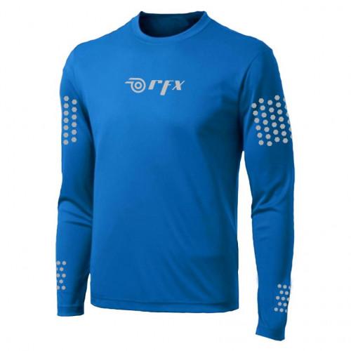 Playera Running RFX Sport Reflejante  Azul Hombre
