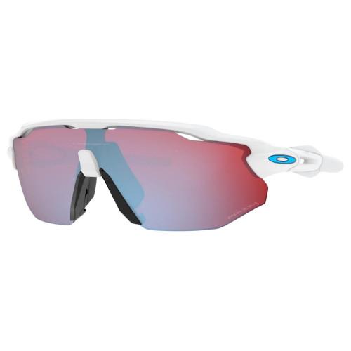 Lentes Oakley Ciclismo Radar Ev Advancer Prizm Snow Sapphire Iridium Blanco