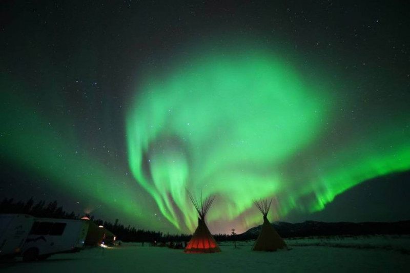 Noches de Auroras boreales en Canada