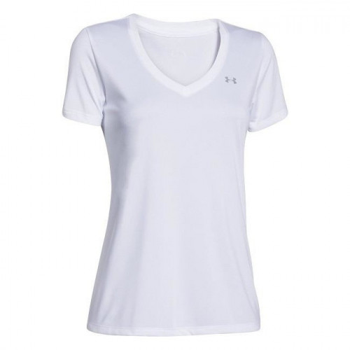 Playera Under Armour Fitness Tech V - Solid Blanco Mujer