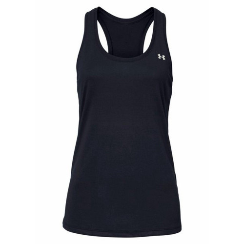 Tank Top Under Armour Fitness Tech Tank - Solid Negro Mujer