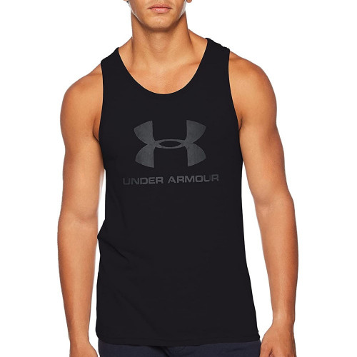 Tank Top Under Armour Fitness Sportstyle Logo Negro Hombre