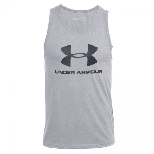 Tank Top Under Armour Fitness Sportstyle Logo Gris Hombre