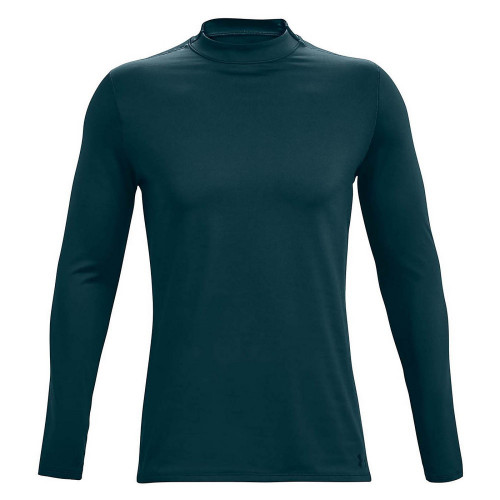 Playera Under Armour Fitness ColdGear Fitted Mock Verde Hombre