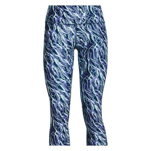 Leggings Under Armour Fitness HeatGear Armour Printed Capri Azul Mujer