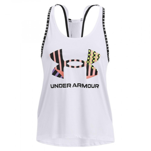Tank Top Under Armour Fitness Geo Knockout Blanco Mujer