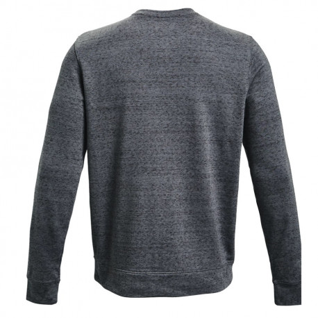 Sudadera Under Armour Fitness Rival Terry Crew Gris Hombre