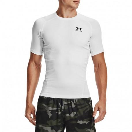 Playera Under Armour Fitness HeatGear Armour Compression Blanco Hombre