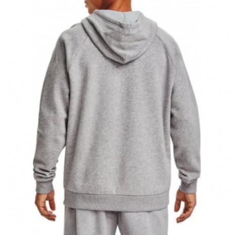 Sudadera Under Armour Fitness Rival Fleece Big Logo Gris Hombre