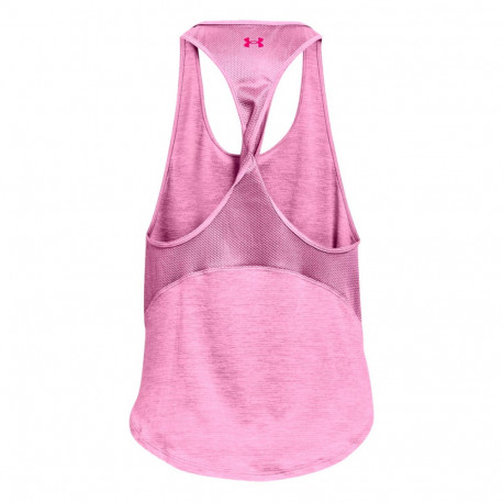 Tank Top Under Armour Fitness Tech Vent  Rosa Mujer