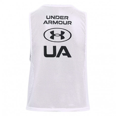 Tank Top Under Armour Fitness Armour Muscle Mesh Blanco Mujer