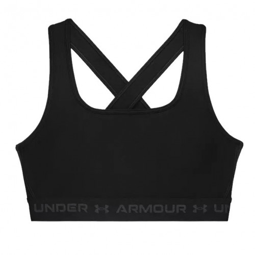 Sports Bra Under Armour Fitness Croback Mid Negro Mujer