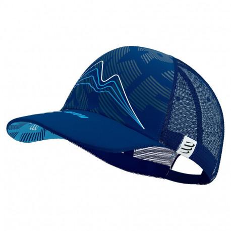 Gorra Compressport Running Trucker Mont Blanc Limited Azul