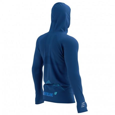 Sudadera Compressport Trail Running 3D Thermo Zip Mont Blanc LTD Azul Hombre