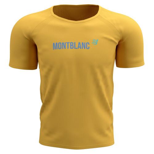 Playera Compressport Trail Running Training Mont Blanc Limited Amarillo Hombre