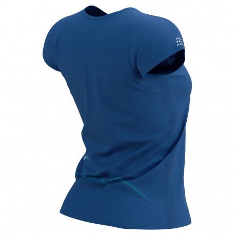 Playera Compressport Trail Running Training Mont Blanc LTD Azul Mujer