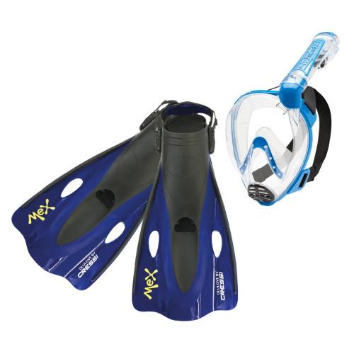 Kit Cressi Snorkeling Duke Mex Dry Negro