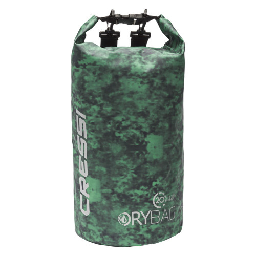 Dry Bag Cressi Buceo Camuflaje De Lona 20L Hunter Verde