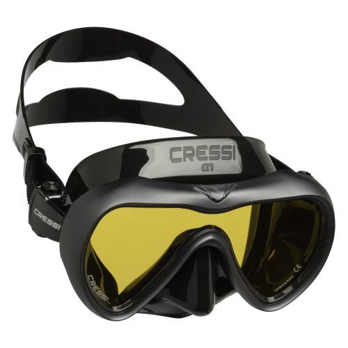 Visor Cressi Buceo A1 Amarillos Negro